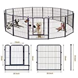 GDKASRNY Puppy Playpen, Metal Heavy Duty Dog Exercise Protect Pen, Indoor Outdoor Foldable Barrier...