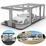 TKLoop 19FT Inflatable Car Booth Airtight Design Inflatable Car Shield Car Showcase Portable Inflatable Garage for Car Cover and Storage with Pump