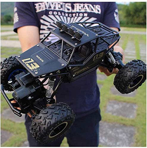 HA-BEASTWHEEL - 4X4 Rc Rock Crawler, 1:18 Scale Rc Car 30 Km/h High Speed Remote Control Monster Truck for Kid Adults - 2.4Ghz RC Off-Road Toy Excitement in Water,Mud,Snow - Toy Gift for Boys (Black)