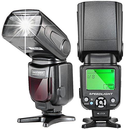 NEEWER NW-561 スピードライト 液晶ディスプレイ付き  Canon & Nikon一眼レフカメラ 及び他の標準ホットシューに対応する一眼レフカメラに対応 対応機種: Canon/キヤノン EOS Kiss X3 , EOS Kiss X4 , EOS Kiss X5 , EOS Kiss X6i , EOS Kiss X7i , EOS Kiss X7 , EOS Kiss X50, 6D, 1Ds Mark III, 1Ds Mark II, 5D Mark III, 5D Mark II, 1D Mark IV, 1D Mark III Nikon D7200 D7100 D7000 D5200 D5100 D5000 D3000 D3100 D300 D300S D700 D600