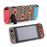 SUPNON Switch Case Compatible with Nintendo Switch Games Protective Hard Carrying Cover Case for Nintendo Switch Console Joy Con Controlle - Colorful Mosaic Oriental Kilim Rug with Design37188
