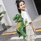 Mochila de Ocio,Mochila Dinosaurio 3D Mochila Infantiles Animal Bolsas Escolares de Niños Niñas Mochila de Dinosauri Animales Grande de Dibujos Animados (Verde)