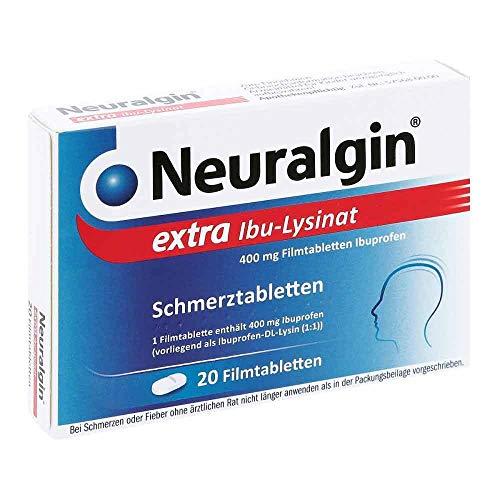 Neuralgin extra Ibu-Lysinat 400 mg Filmtabletten bei Schmerzen oder Fieber, 20 St. Tabletten