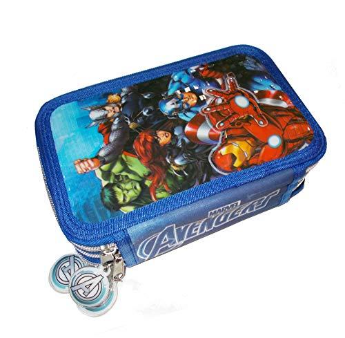 Los Vengadores - Astuccio con 3 Cerniere Avengers in PVC, Multicolore (AST1775)