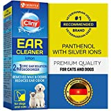 Beloved Pets Cliny Universal Ear Cleaner for Dogs and Cats - New Formula Ear Infection Treatment - Effective Against Mite, Yeast & Natural Odor Control Lotion