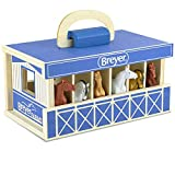 "Breyer Horses Breyer Farms Wooden Stable Playset with 6 Horses | 6 Piece Playset | 6 Stablemates Horses Included | 6"" H x 9"" L x 2.5"" D 
