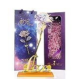 Fleurs artificielles avec boîte Cadeau pour Elle, Galaxy Crystal Rose comme Cadeau Unique pour Les Femmes pour la fête des mères, la Saint-Valentin,...