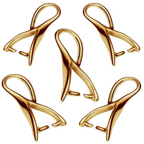 My-Bead 5 pezzi gancio per ciondoli cappio 17mm argento 925 placcato oro doppio pendenti alta qualit da gioielliere DIY