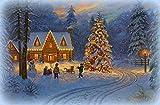 wtnhz Pintura digitalDIY Cuadro de Carteles navideños Serie 111 DIY Cuadros Pintura por Números Regalos para niños decoración de Pared 40x50cm(Sin Marco)