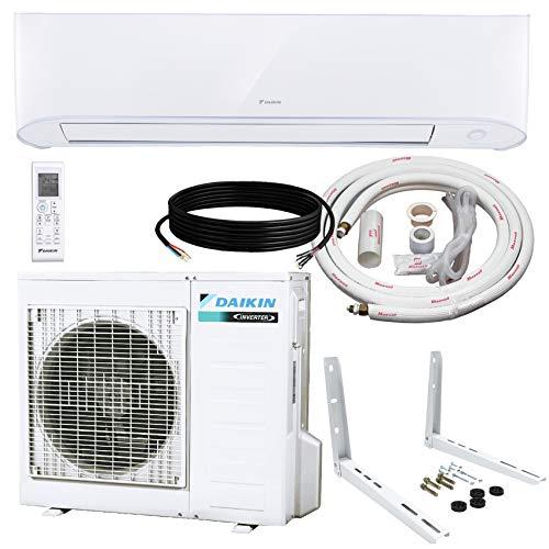 Daikin 24,000 BTU 17 SEER Wall-Mounted Ductless Mini-Split Inverter Air Conditioner Heat Pump System 15 Ft. Installation Kit & Wall Bracket (230 Volt) 10 Year Limited Warranty