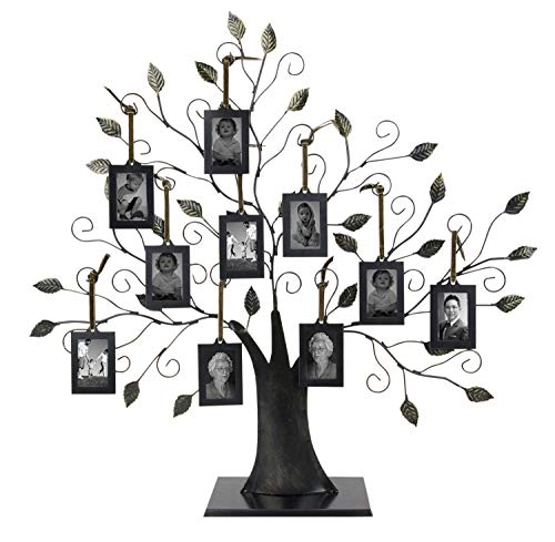 Large Family Tree with 10 Hanging Photo Frames by Maypes