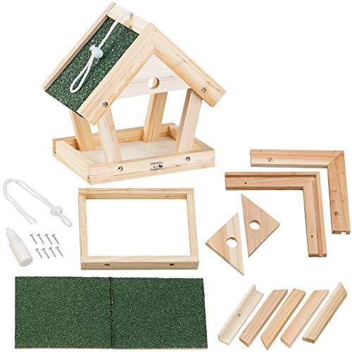 Royal Gardineer Vogelfutterhaus: Vogel-Futterhaus-Bausatz aus Echtholz, zum Aufhängen, 13-teilig (Vogelhaus Bausätze)