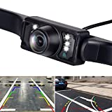 Vehicle License Plate Backup Camera - Car Rear View Camera,REOTECH Automotive Backing Camera 120° View Angle Waterproof 7 LED Night Vision Reversing Camera for Trucks/SUV/RV/Pickup/Vans