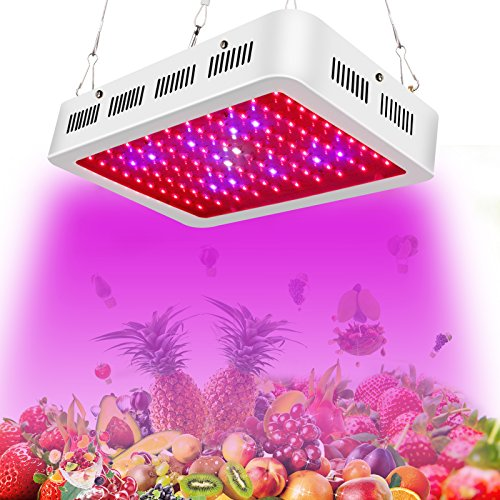 LED Grow Light–Roleadro Grow Lights for Indoor Plants from Seeding to Harvest Full Spectrum 300W with UV/IR Higher Actual Power/PAR