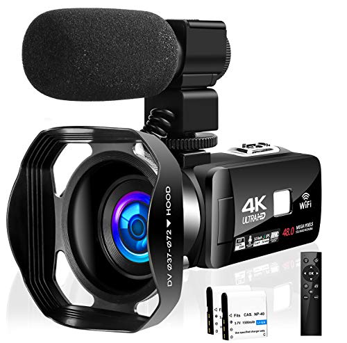 Camcorder Video Camera 4K 48MP 18X Video Camera WiFi YouTube Camera IR Night Vision Camcorder...