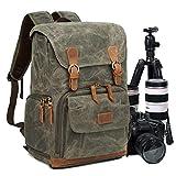 Zaino Casual per Fotocamera/Reflex,Zaino Laptop per Macchina Fotografica,Borsa Impermeabile per Foto DSLR/Treppiede Accessori,Zaino Antifurto di Viaggio per Canon Nikon Sony Olympus (Amy green)
