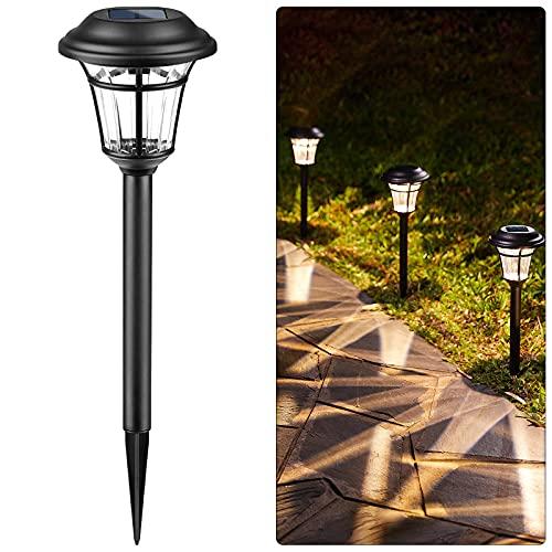 Solar Pathway Lights Outdoor - 6 Packs Waterproof Garden Lights 16.7...
