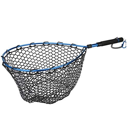 Tomanbery Guadino Pieghevole da Pesca Guadino da Pesca a Mosca Guadino da Pesca a Mosca Resistente e Leggero Manico in Lega di Alluminio Portatile per Carpa a Mosca Corso Mare per Pesca(Blue)