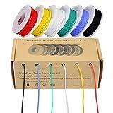 Fil électrique de 28 AWG, kit de fil de couleur Fil de silicone flexible...