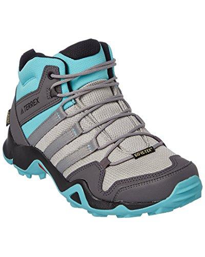 adidas Women's Terrex AX2R Mid GTX Hiking Boot - MGH Solid Grey/Ch Solid Grey/Black, 7.5