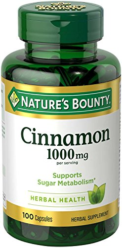 Nature's Bounty Cinnamon 1000mg, 100 Capsules (Pack of 6) 3