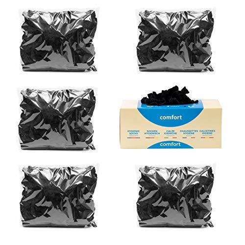 Pedsox Refill 500 pz Calze Igieniche Comfort Monouso per prova calzature (Nero)