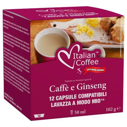 96 Capsule di caffè al ginseng compatibili Lavazza A Modo Mio* Italian Coffee
