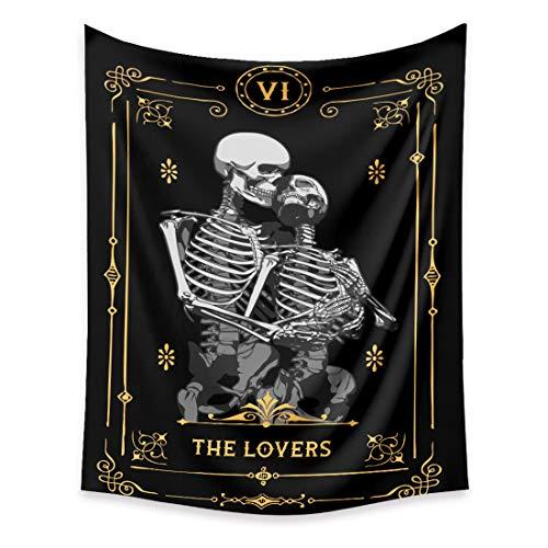 VIENLOVE Black Tarot Card Tapestry Poster Blanket Tapestries...