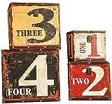 LHSUNTA Cajas de Almacenamiento de Madera Almacenamiento de Maletas Retro Caja de Madera Almacenamiento de Ropa Juego de 4 Organizador de Joyas de Estilo Vintage Caja de Madera Decorativa