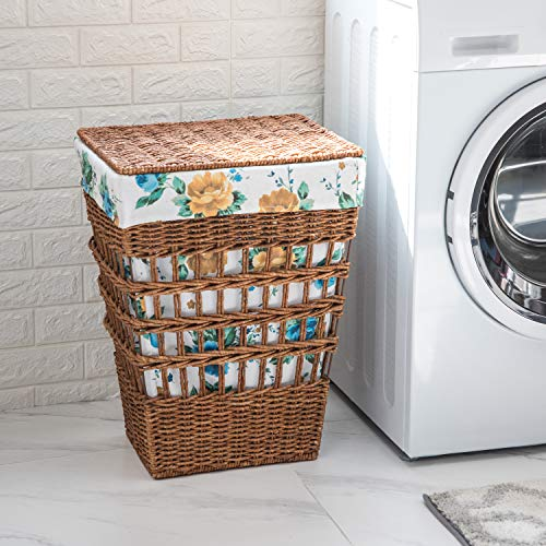 Hamper The Pioneer Woman Rose Shadow Maize Laundry