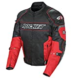 Joe Rocket 1460-1104 Resistor Men's Mesh Motorcycle Jacket (Red/Black, Large)