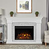 Real Flame Deland Grand Electric Fireplace, White