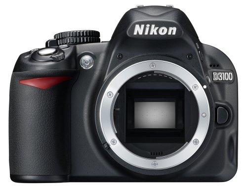 Nikon D3100 Fotocamera Reflex con Kit 18-55vr + 55-300vr, Lega di Magnesio, 2 Obiettivi Inclusi, Nero [Versione EU]