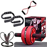 Emerging Green Home Gym Equipment | Ab Roller Wheel | Push Up Handles for Floor | Resistance Bands | Resistance Bands | Home Workout Equipment Women