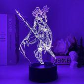Genshin impacto 3d illusivo led lâmpada noturna hot fans jogos criativos presentes de mesa lâmpada led luz noturna para crianças 7 cores toque hoichan