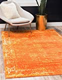 Unique Loom Sofia Traditional Area Rug, 8' 0 x 10' 0, Orange