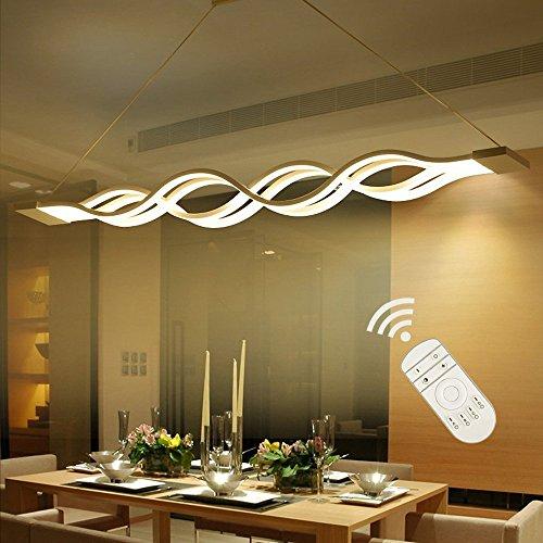 Suspension LED dimmable,Lustre LED,LIUSUN LIULU® Lustre Salon Moderne, Suspension Luminaire LED pour Cuisine, Salle À Manger, Salon,Restaurant,réglable en hauteur,3000k-6000k,dimmable