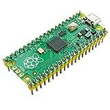 Ingcool Raspberry Pi Pico Scheda con Collettore Pre-Saldato, Basato su Chip Raspberry Pi RP2040, Processore ARM Cortex M0 + Dual-Core Fino a 133 MHz, Supporto C/C ++ / Python