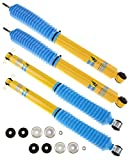 Bilstein 24-141727 24-141734 Pair of Front and Rear 4600 Series Shock Absorbers for 07-17 Jeep Wrangler and 2018 Wrangler JK