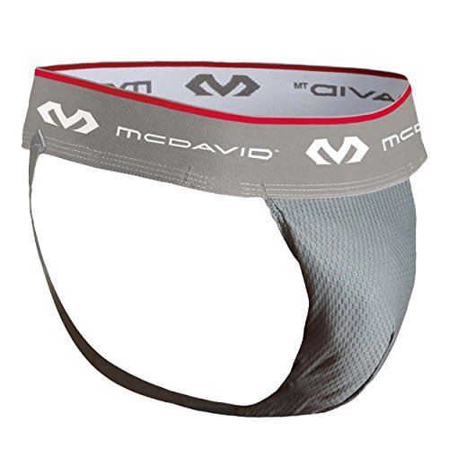 McDavid 3300 HexMesh Athletic Supporter (Grey, Medium)