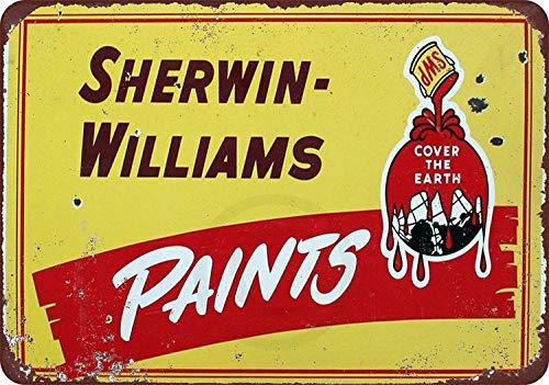 New Tin Sign Sherwin Williams Paints Yellow Vintage Aluminum Metal Sign 8x12 Inches (M4073)