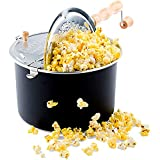 Franklin's Original Whirley Pop Stovetop Popcorn Machine Popper. Delicious & Healthy Movie Theater Popcorn Maker. FREE Organic Popcorn Kit. Makes Popcorn Just Like the Movies.