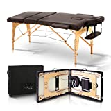 Desireenvy Portable Massage Table With Carrying Case - Easy To Set Up Lightweight Adjustable And Foldable Bed For Physical Therapy, Facial, Tattoo, Spa, And Esthetician Treatment Table Bed