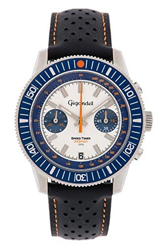 Gigandet Herren Uhr Chronograph Quarz mit Leder Armband G7-008