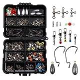 LIHAO 160pcs Kit d'Accessoires pour Pêche, Boîte de Pêche avec Hameçons,...