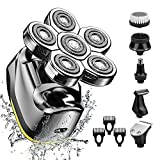 Electric Head Shaver for Men-Electric Rotary Razor & Grooming Kit,...