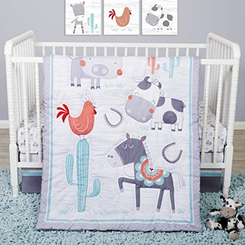 Sammy And Lou Farmstead Friends 4 Pc Crib Bedding Set