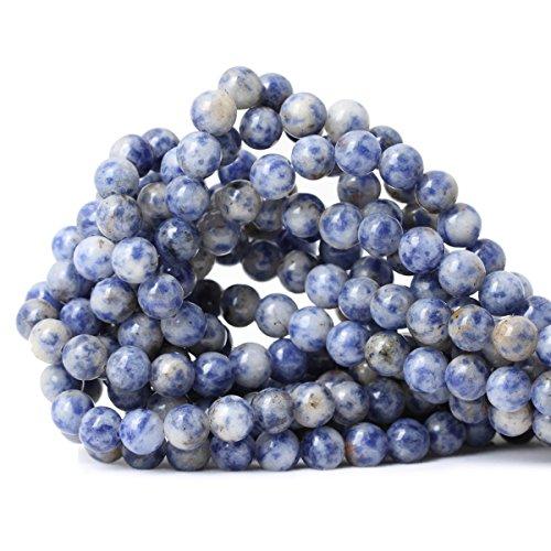 CHEAVIAN 45PCS 8mm Natural Blue White Sodalite Gemstone...
