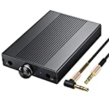 Proster Headphone Amplifier 3.5mm HiFi Audio Amp Supports Impedance 16-150Ω Portable DAC Amp Rechargeable Earphone Amplifier for iPhone iPod MP3 MP4 Digital Player Computer
