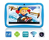 Contixo Kids 7-inch Tablet Touch Screen Android 4.1 Dual-Cameras WiFi (Blue)